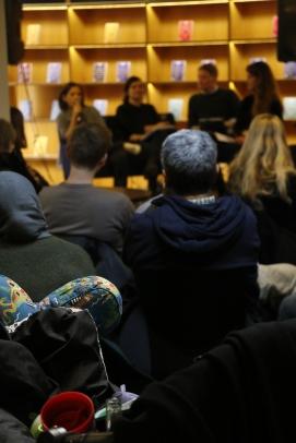 """Marronage: Modlæsninger, """"Kolonihistorie i folkeskolen"""", Hovedbiblioteket, marts 2017. Foto: Kbh læser."""