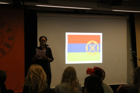 "Marronage: Modlæsninger, Colonial Daughters: ""Country of Loss"", performance, marts 2017, Hovedbiblioteket. Foto: Lotte Løvholm"